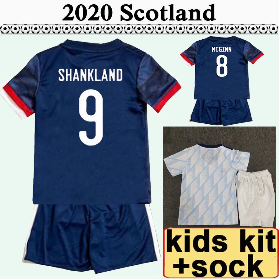 2020 اسكتلندا أطفال كيت الرئيسية المنزل لكرة القدم الفانيلة mcgregor griffiths روبرتسون شانغلاند findlay mcginn طفل كرة القدم قميص