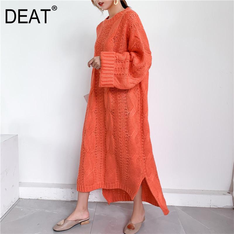 DEAT 2020 nouveaux automne et les femmes de la mode hiver vêtements Pull femme Surlongueur pull grande taille robe lâche WJ82002 c1009