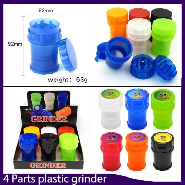 Grande vaso Med contenitore 4 parti in plastica Grinder Twist sicuro Lock System pepe smerigliatrici tabagismo Herb Muller 0.266.325