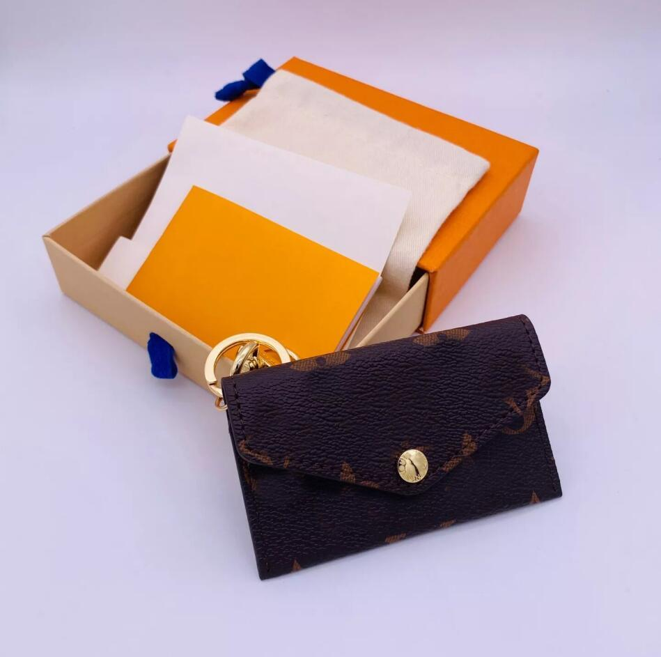 Lettre de la lettre Imprimer Fashion Portefeuille Forme Designer Car Keychain Sac Pendentif Charm Bijoux Porte-clés Porte-porte-clés PU Porte-clés Accessoires
