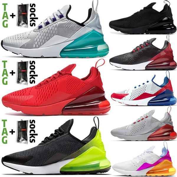 Yeni 2021 Cushion 270 Erkek Koşu Ayakkabıları Platin Yeşim ABD Üçlü Kırmızı Siyah Beyaz Antrasit 270s Spor Ayakkabıları 27c Kadın Eğitmenler Getirdi