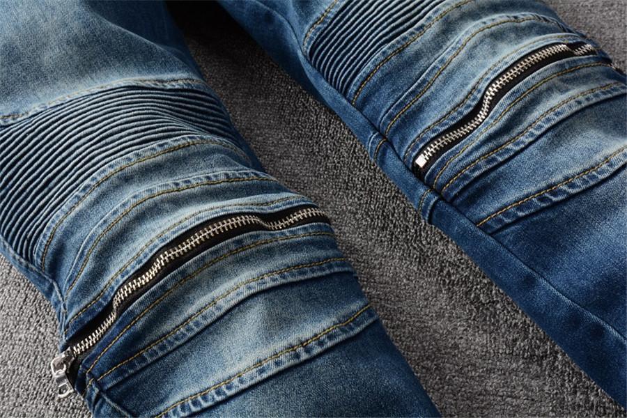 Новый дизайн Страйл мужские джинсы знаменитые повседневные бренд дизайнер джинсы белые тонкие моды способы джинсы мотоцикла брюки карандашные брюки мужчины и женщины