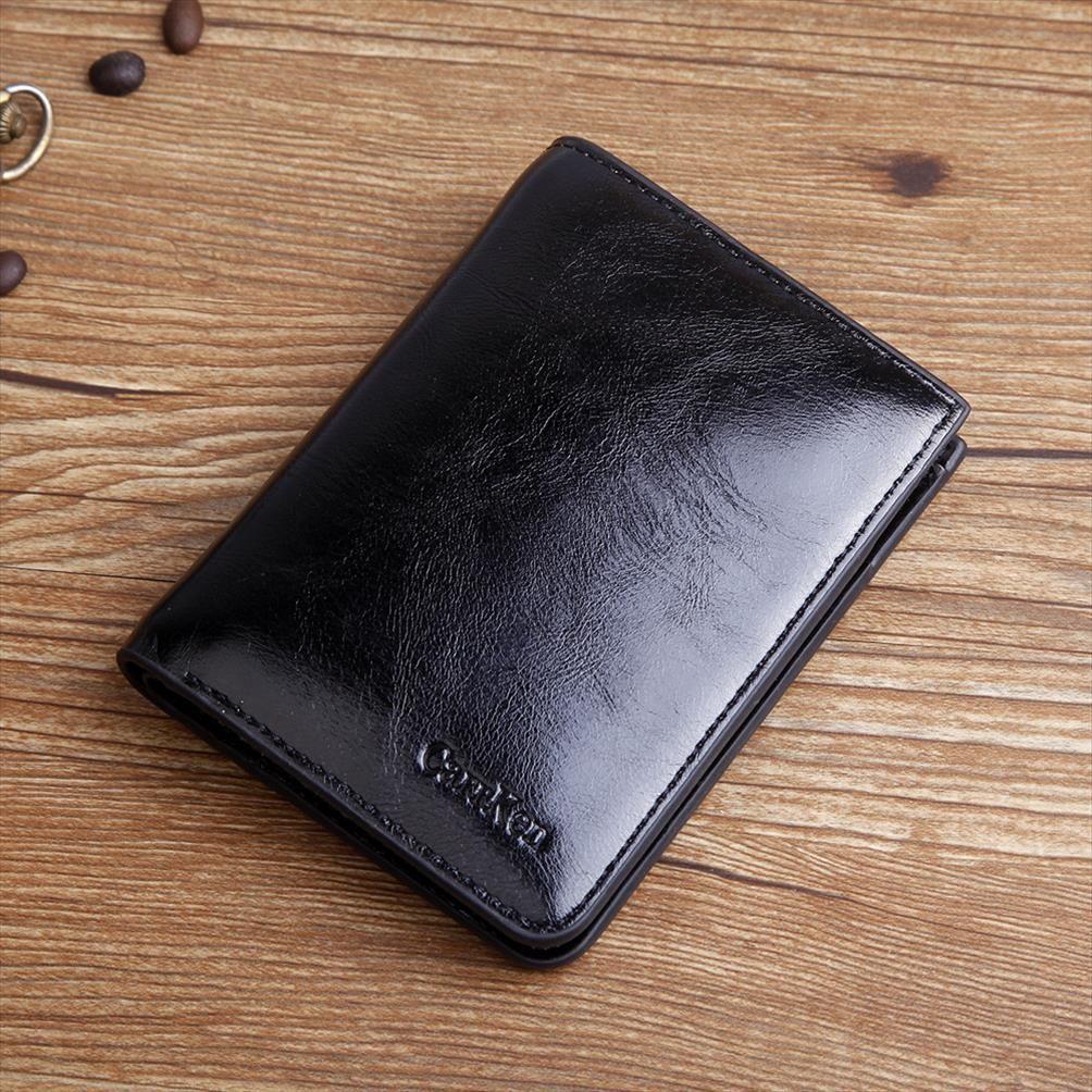 Дизайнерский мужской бренд кошелек для высокого нового качества нефтяной воск WAX WACKELET винтажная монета короткая мода застенчивый кожаный кожаный кожаный мужской URSDG