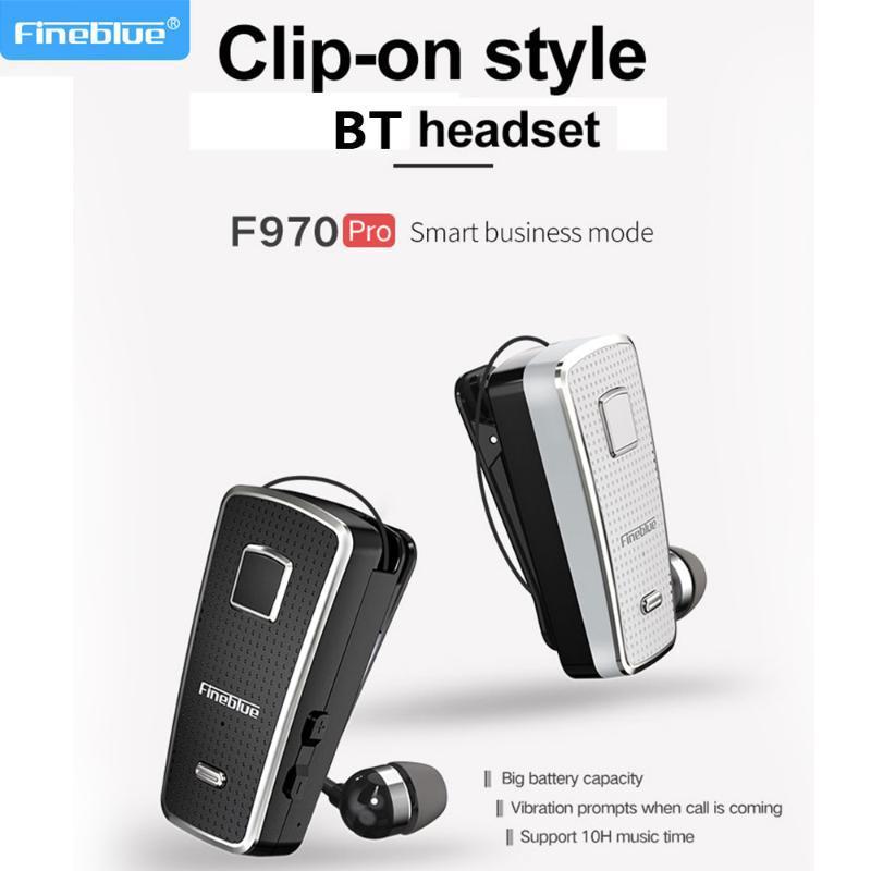 FineBlue F970 PRO Беспроводные Bluetooth Наушники Clip-On Wireless BT5.0 Стерео Спортивная гарнитура Handsfree Шумоподавление С помощью MIC