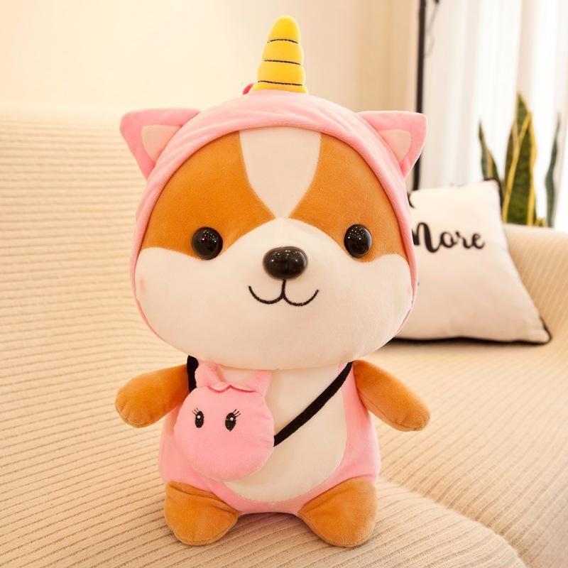 Regalos regalo de Navidad 25-35cm perro de Shiba Inu ardilla de juguete de felpa suave relleno Animal Corgi Chai Almohada para los niños de San Valentín Navidad Sí