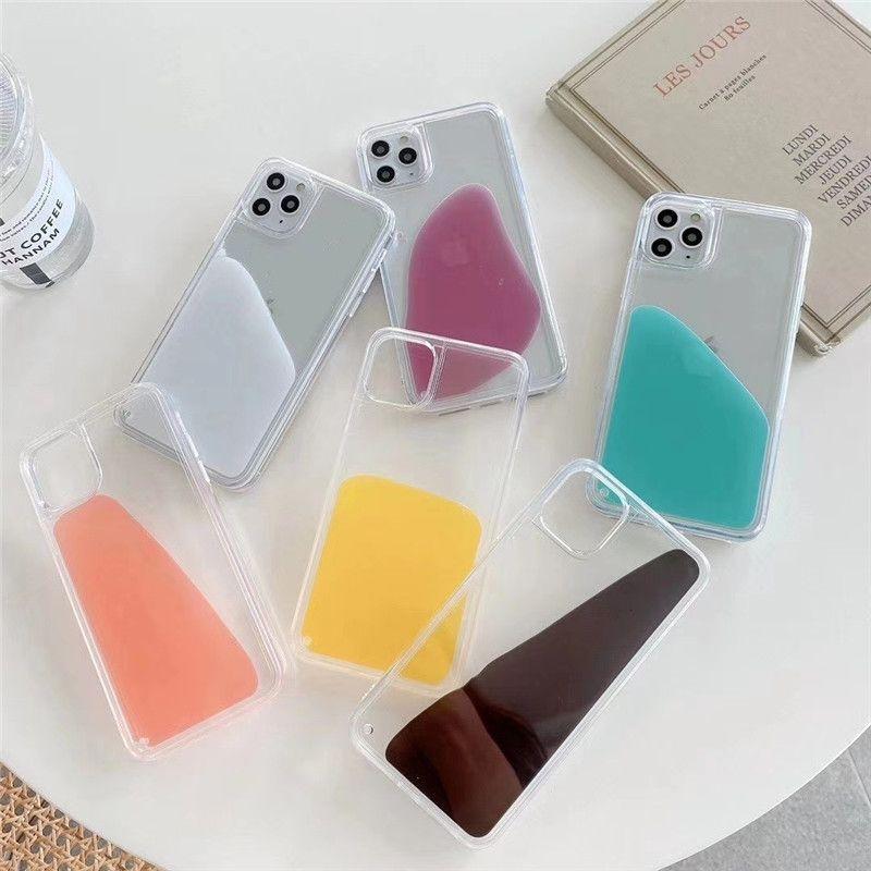 2020 NOUVEAU Étui de téléphone liquide fluide pour Apple iPhone 12mini 12 12SPRO 6 6S 7 8 plus XR x 11Pro xs Max SE2 Couverture arrière
