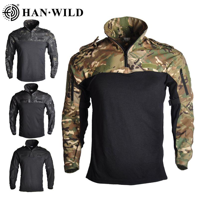 HAN WILD Камуфляж Охота Одежда Tactical Frog Одежда форменная военная Пейнтбол Airsoft Sniper Combat ShirtPants Джерси