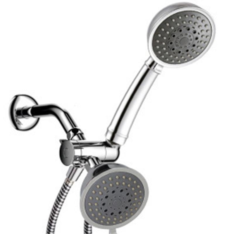 Kit de conector de mano de baño Cinco Función con zócalo Durable Tee Joint Multiple Water Outlets Cabeza de ducha
