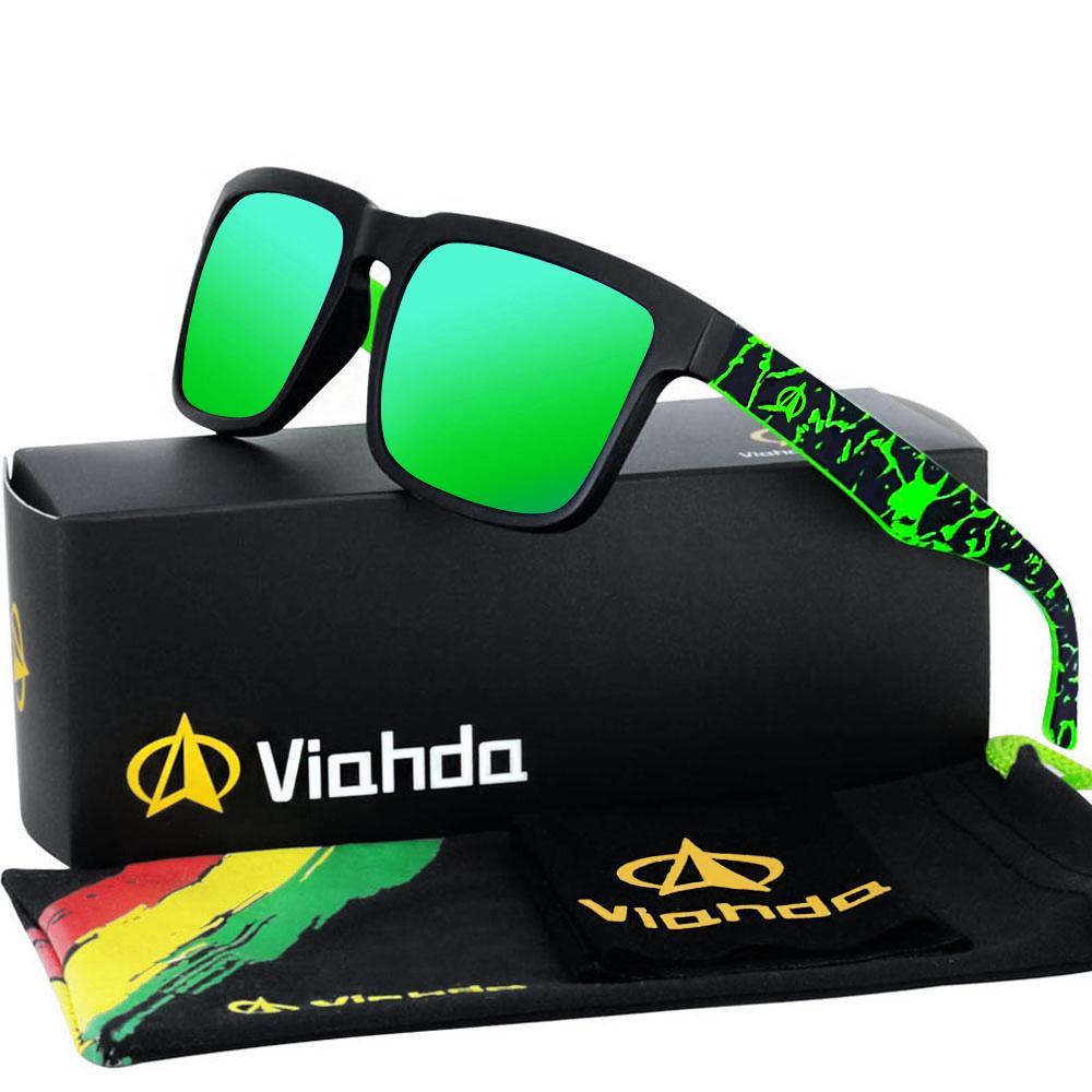 VIAHDA 2021 Novo e Coole Polarizado Ssunglasses Classic Homens Shades Marca Designer Sun Óculos Óculos Eyewear Masculino UV400
