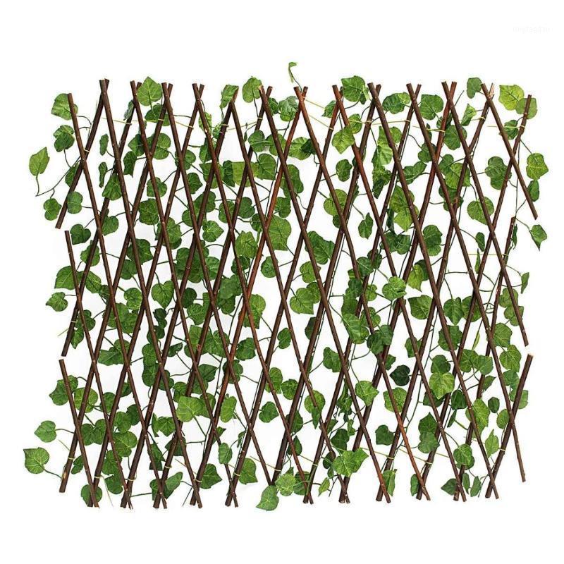 70см Искусственные растения Декор Удлинитель Сад Ярд Искусственный Плющ Листьев Забор Поддельных листьев Весна Зеленая Сеть Для Домашнего Уолл Гарден1