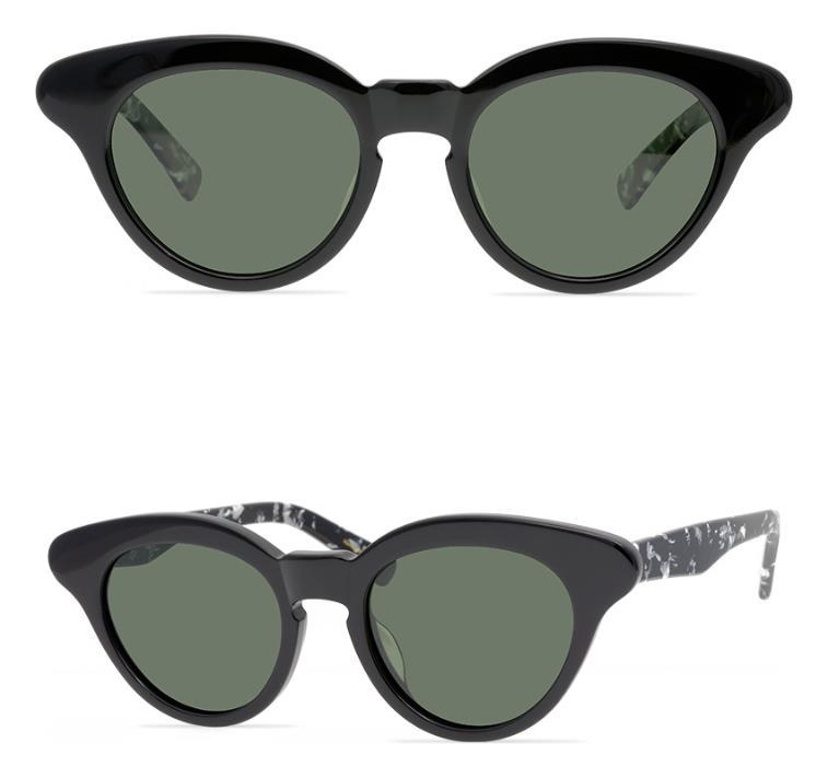 Marca Moda Cateye Sunglasses A MÁSCARA Homens óculos polarizados Mulheres Cat Eye óculos de sol de alta qualidade Handmade Plank óculos de sol com caixa