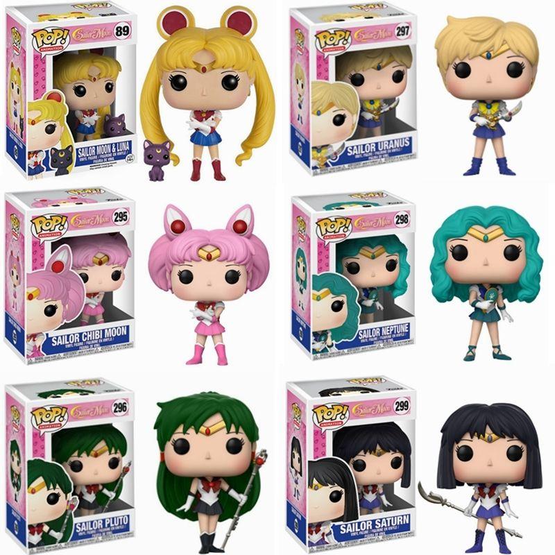 Funko Pop Sailor Moon Figur Ornament Action Models Sammlbare Spielzeug für Kinder Geschenk Q0522