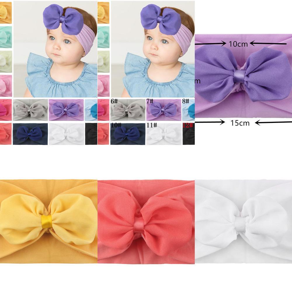 neonato neonato bambino turbante fascia morbida loto foglia fiore fiore stretch foodscarf headwraps bow knot fasce ragazze accessori per capelli B446
