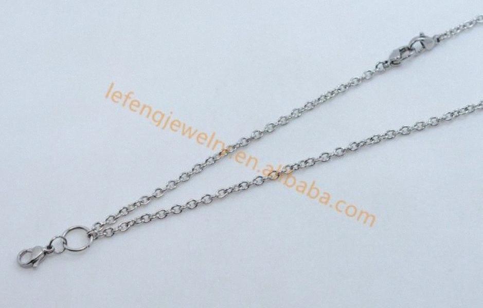 Gros-Diy 30 « » détachable argent en acier inoxydable Rolo chaînes collier downsideway pour pendentif flottant locket jewerly pas RIRM de #