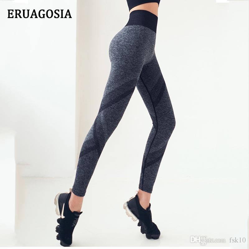 ERUAGOSIA Pantalon de yoga de haute taille Femmes Stretchy Push Up Gym Collants transparente Sport Leggings Fitness Femme en cours de formation Pantalons