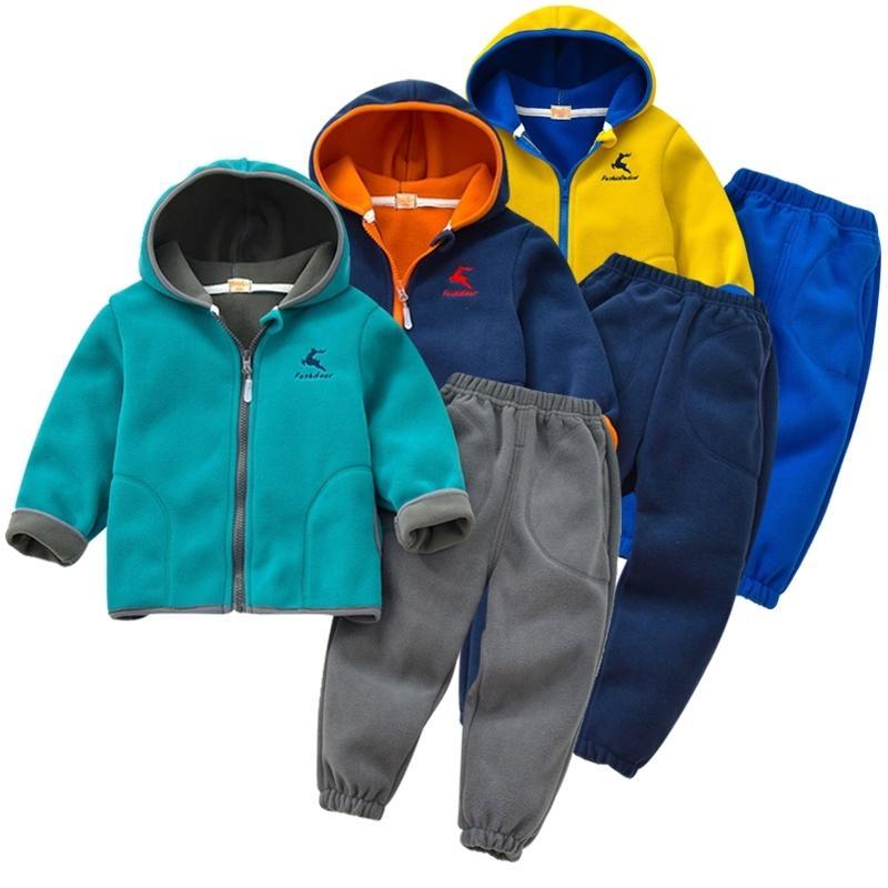 Детская полярная флисовая пиджака весенняя девушка с длинным рукавом теплый мальчик костюм куртка детей 2-12 лет куртка подросток одежда топ 201126
