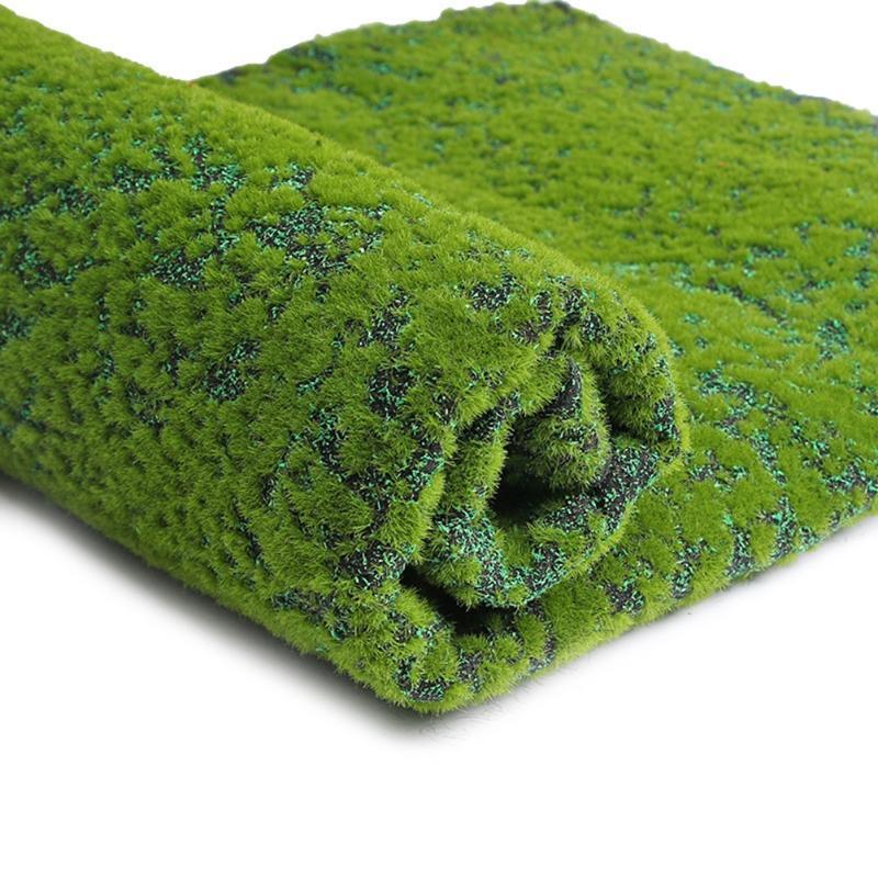 Falsos artificial Musgo Liquen Simulación plantas verdes para jardín Patio Decoración (punto rojo)