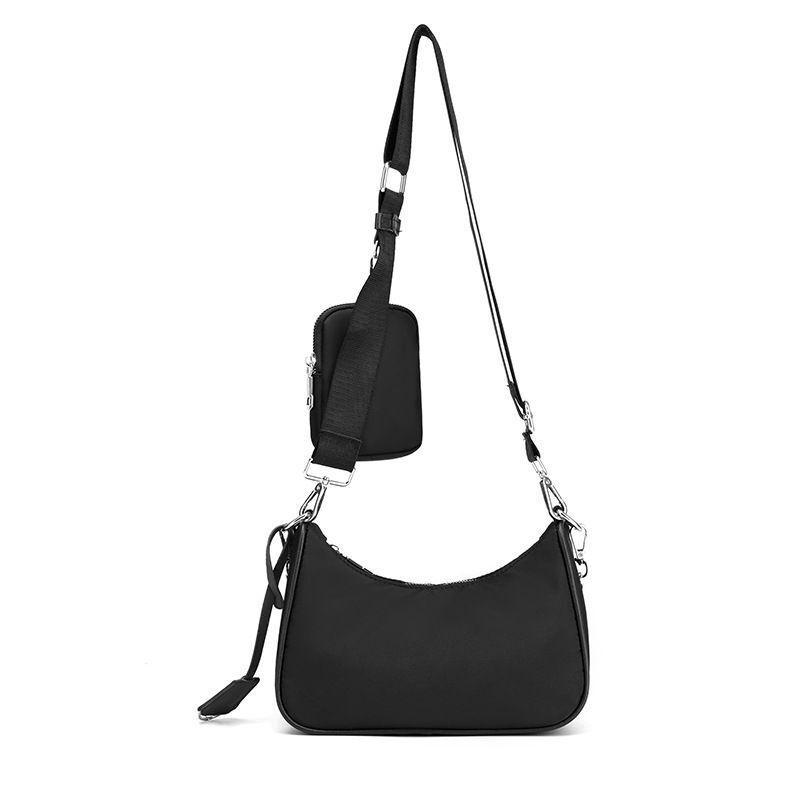 Moda Corpo Compras Chave Chave Accessoires bolsa de bolsa nylon nylon w / removível pochette ombro cruz cle casual multi saco womens knl cbli