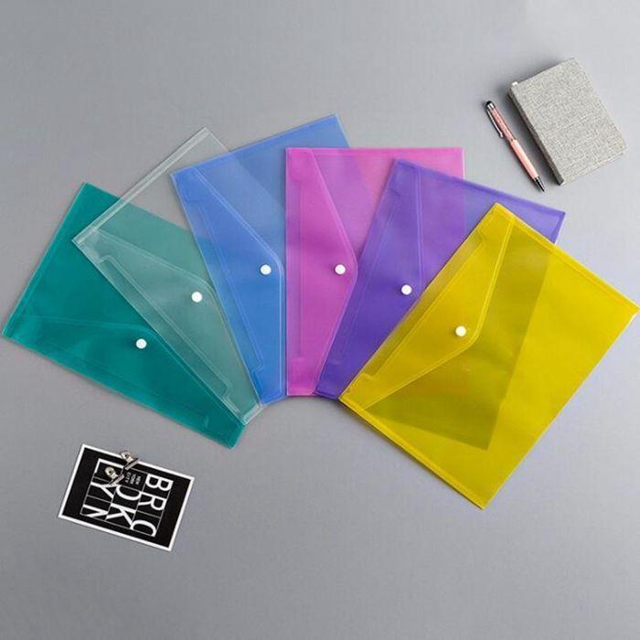 ملف مجلد امتحان الطالب رفوف ورقة أكياس ملف مستند A4 مع زر المفاجئة إيداع شفافة مظاريف المجلدات البلاستيكية 6 اللون WY867DXP