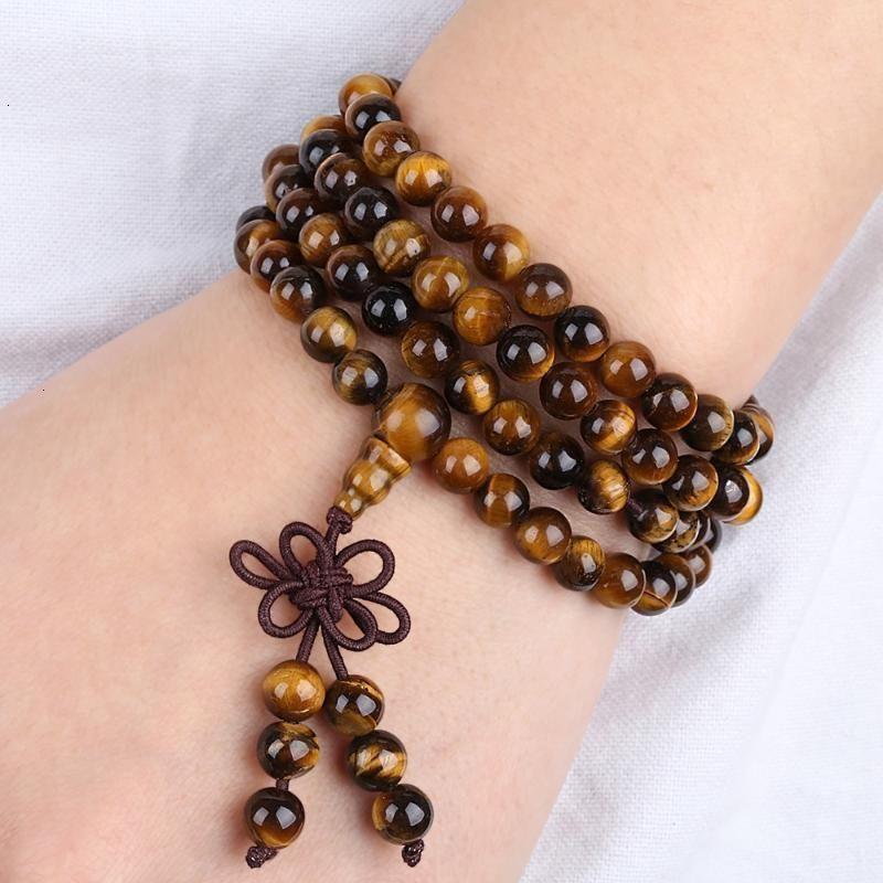 108 бусин Mala Sunyik Tibetan буддийский камень 6 мм браслет браслет ожерелье