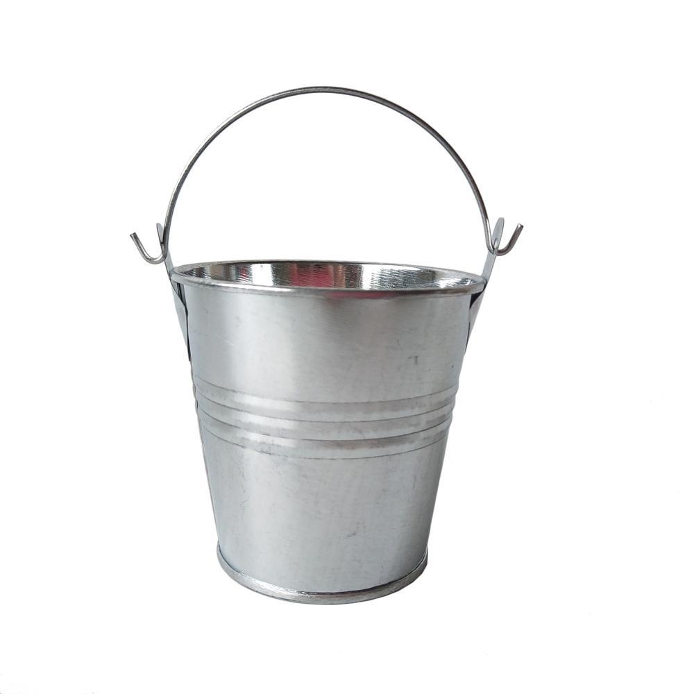 7.5 * 7.5 سنتيمتر الزخرفية وعاء الزفاف لصالح دلو صغير القصدير مربع الحديد الأواني البيض عيد الفصح الأواني
