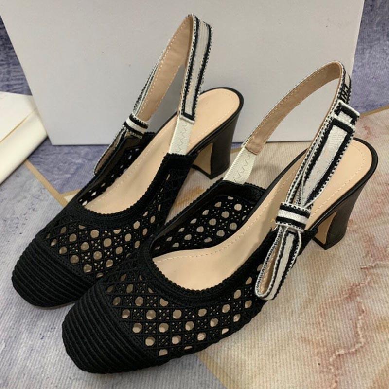 Sandales de printemps et d'été Sandales Fée High High Talons Nouvelle mode Chaussures pour femmes Femme épaisse Table à talons Maréette électrique Baotou Etiquette Bridesma