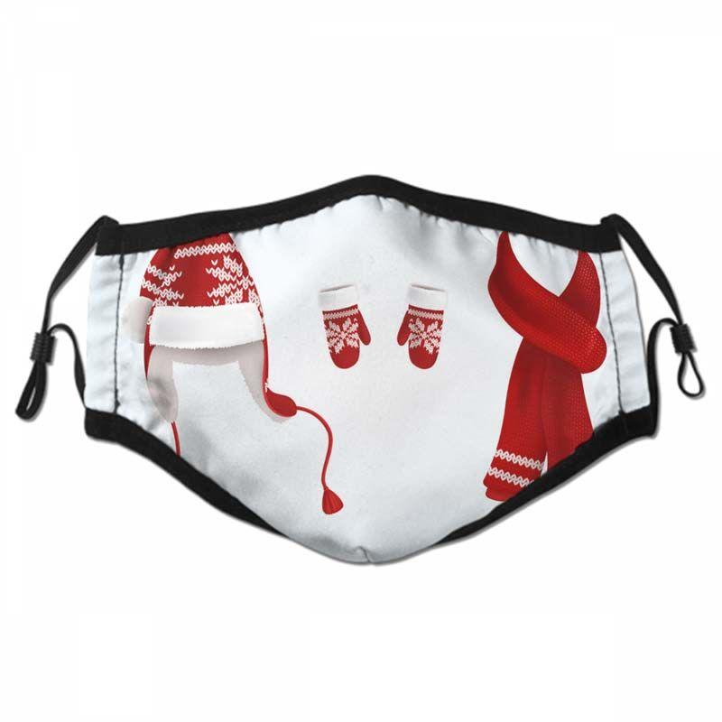 Natal Cara Outdoor Máscara Com 2 Pcs Filtro Cara do Máscara Máscaras Proof Decorações do Natal Outdoor Sports poeira respirável cara