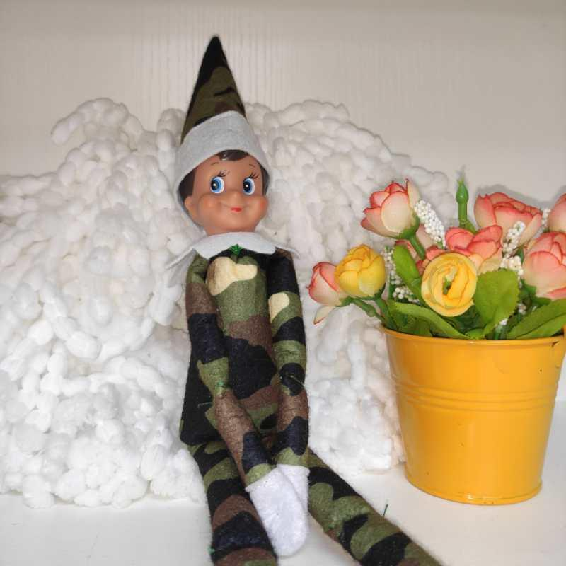 2020 Decoração de Natal Hot Sale Quarentena Styles Elf Boneca Plush Toys Elfos 10 roupa de Papai Bonecas na prateleira por Giftin Natal 002