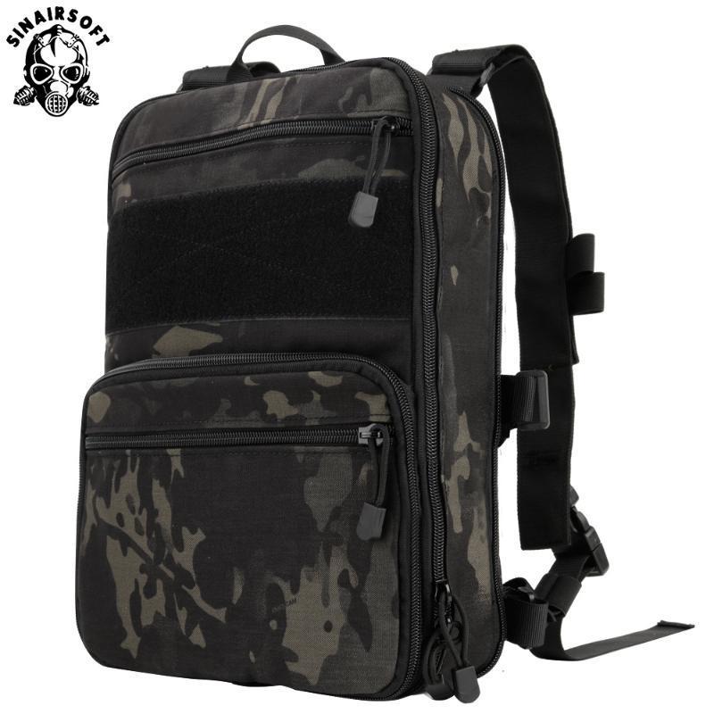 Mochila táctica Hidratación Flatpack D3 Carrier Molle bolsa Gear chaleco multipropósito Asalto de tapa blanda bolsa de viaje