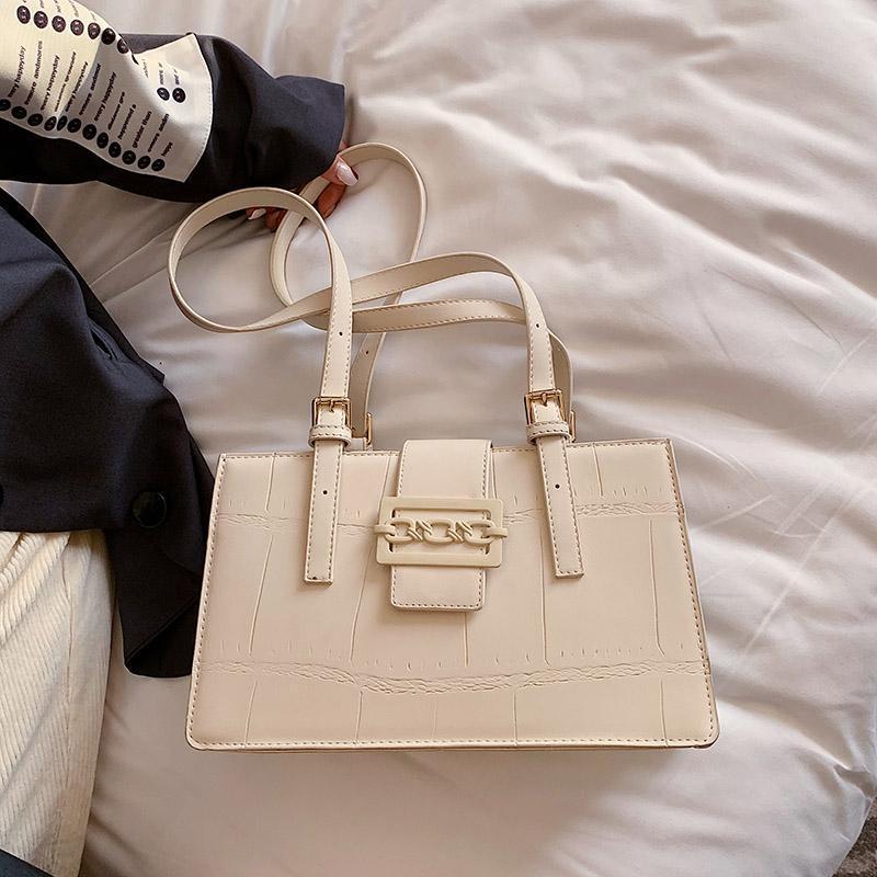 PU SAC кожаная квадратная слинг сумка леди замок крокодил Tote 2020 сумка шаблон повседневная высококачественное с роскошной сумочкой женщин WVDVR