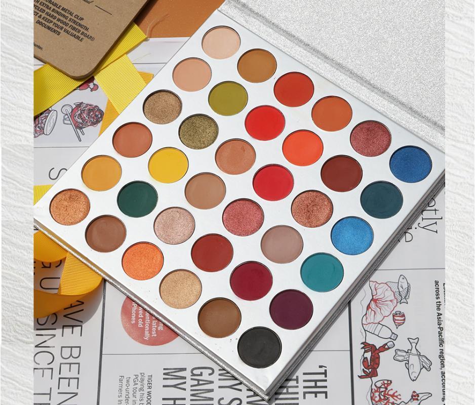 Ombre oculaire beauté vitré 36 couleurs Yourhades Eautshadow Palete Palete Maquillage Palette Pigment Palette Cosmétiques Maquillage