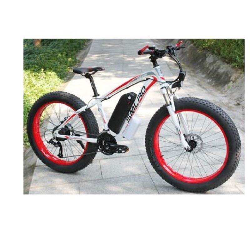 26 дюймов Electric Bike 1000W 17.5Ah Электрический пляж Beach Bike 4.0 Жирный шин Велосипед 48 В Мужская горная велосипеда Snow Ebike E Bikes