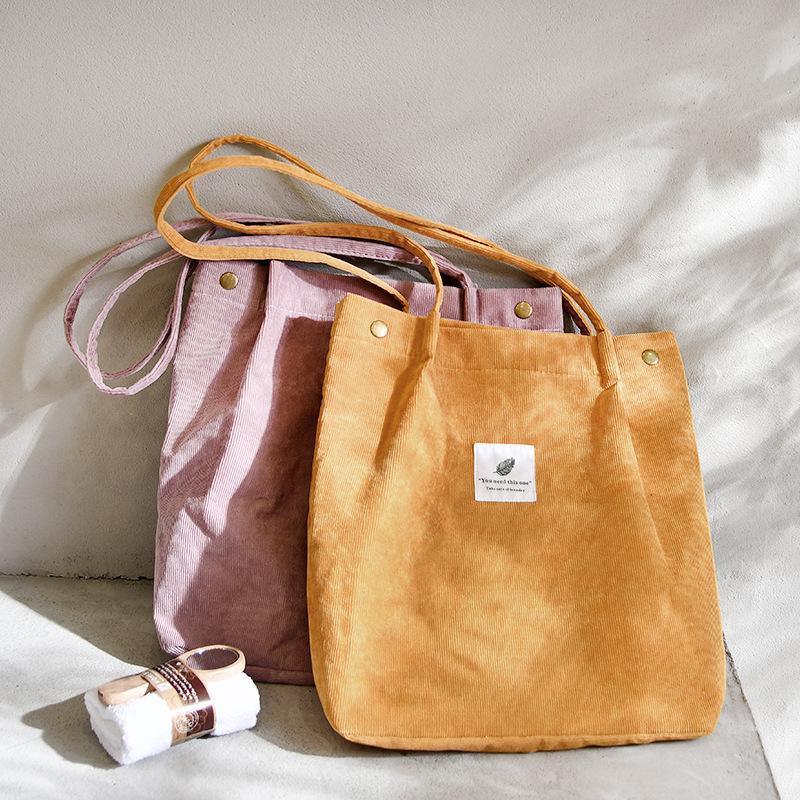 المرأة كيس كودري حقيبة تسوق الإناث قماش القماش حقيبة الكتف حقيبة التخزين البيئي reusable طوي طوي البقالة البقالة
