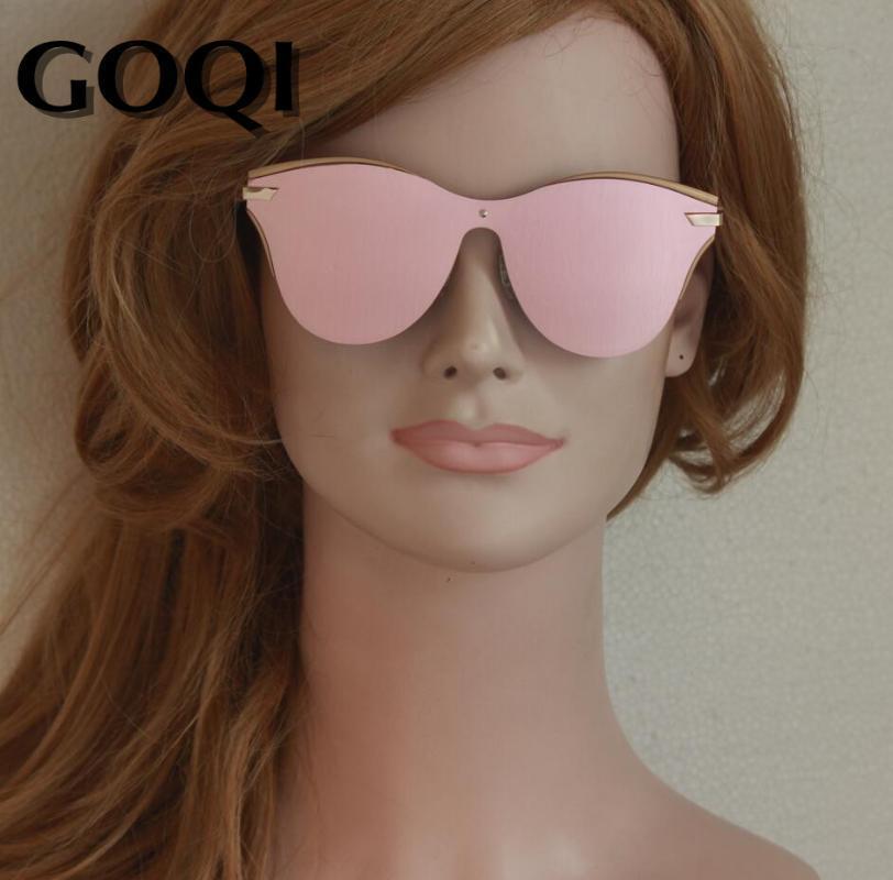 GOQI 2020 mulheres polarizado rosa óculos de flash, sobre o tamanho full frame a marca porta populares marca senhora óculos de sol transporte livre