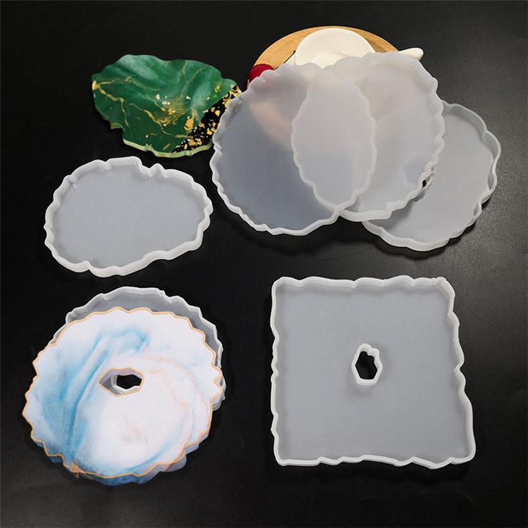 Tazza di erogazione del pad della tazza Stampo fai da te Diagramma di cristallo Diame tazza tampone Stampo in silicone Tavolo decorazione vassoio strumento artigianale 9034