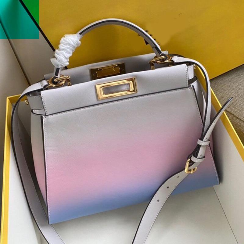 Oeuvre cuir détachable épaule boston sangle femme sac qualité sac véritable sac à bandoulière haute gradient sac sac à main patchwork xptc xptc
