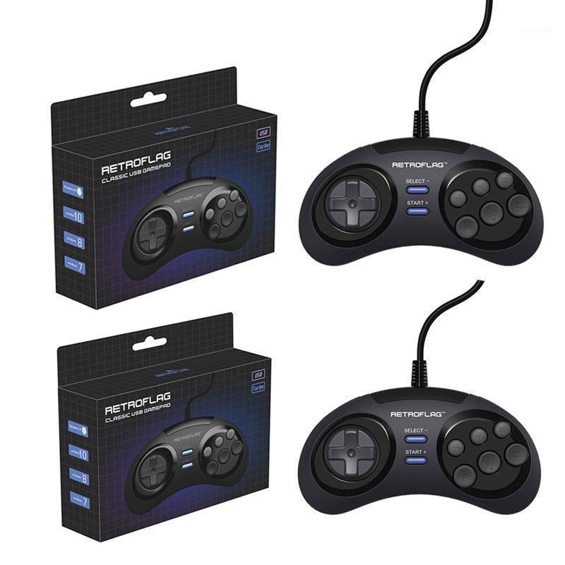 1 o 2 unids Retroflag alambre controlador de juegos USB Gamepad Joypad para Rasbperry PI 4 B / MEGAPI / NESPI / SUPERPI CASE / PC / Switch Windows1