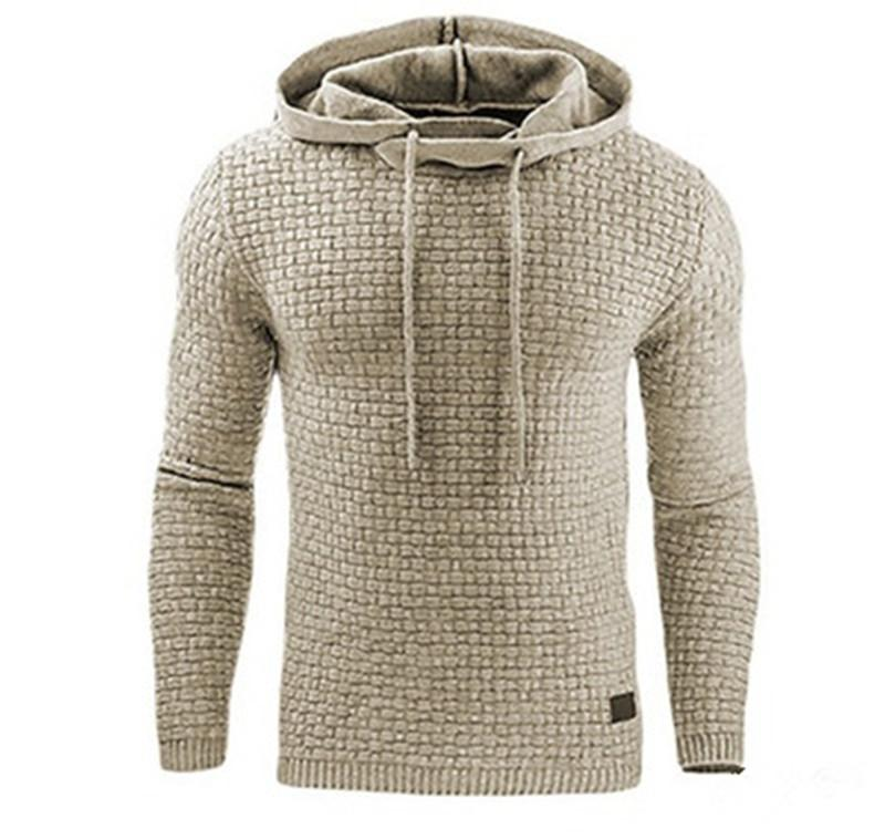 Erkek Tasarımcı Kazak Hoodies Sonbahar Kış Uzun Kollu Katı Renk Kapüşonlu Gevşek Homme Giyim Moda Günlük Giyim