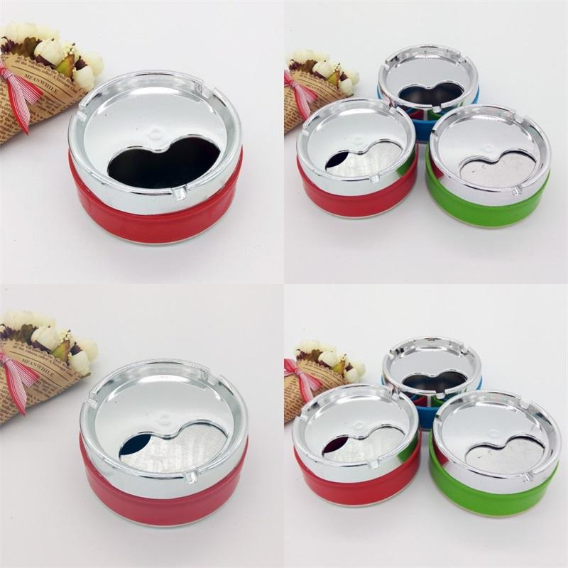 Round Ashtray Office Ashtrays Smoking Accessories Plastic Fashion Windbreak With Cover Hotel Living Room Fashion 1 39yl F2