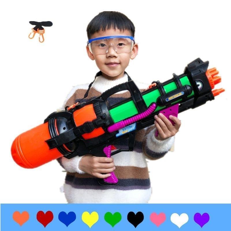 Jumbo blaster aquatique pistolet à eau avec des sangles Kids Beach Squirt Toy Boys Forfait Y200728