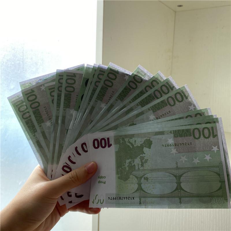 p8 2020 hot New style Wholesale Bar atmosphere Prop money 100 Euro fake movie money billet prop money