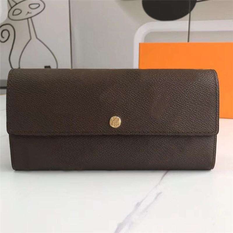 Portefeuille de luxe portefeuille en cuir brun pour femmes Vérifiez bonne qualité