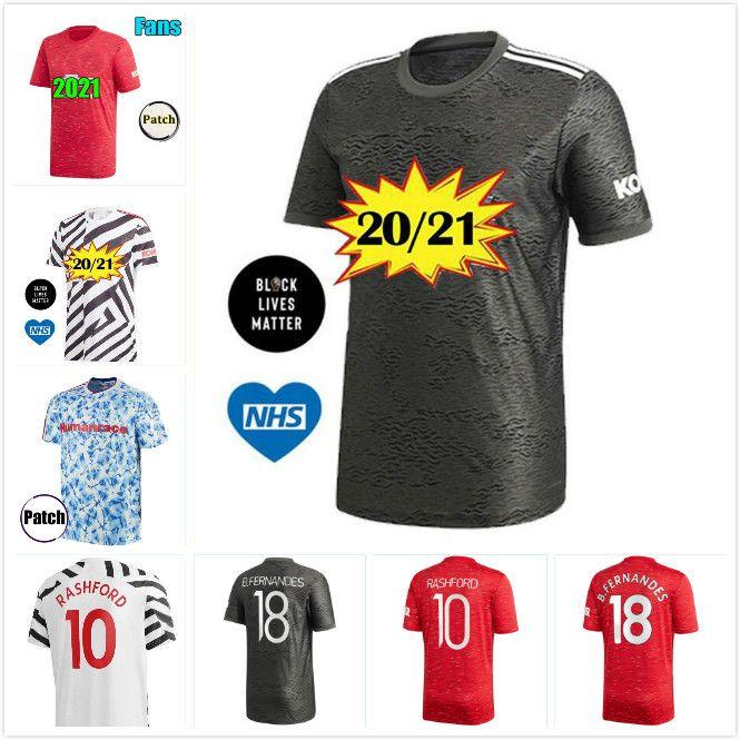 kit 20 21 Rashford CAVANI Pogba FERNANDES Van de Beek Manchester United camisa de futebol 2020 2021 MAN camisa GREENWOOD utd futebol Men + Crianças