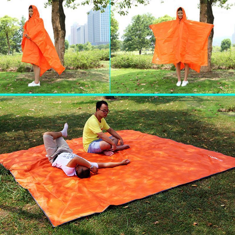 Wandern Radfahren Fahrradfahrrad Frauen Mann Regenmantel Verdickte Wasserdichte Regen Poncho Mantel Erwachsene Camping Hoodie Rainwear Anzug1