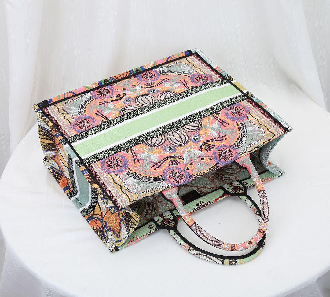Retro estilo étnico senhora livro colorido sacola latte multicolor em luzes coração bordado bordado bordado padrão bolsa bolsa de compras