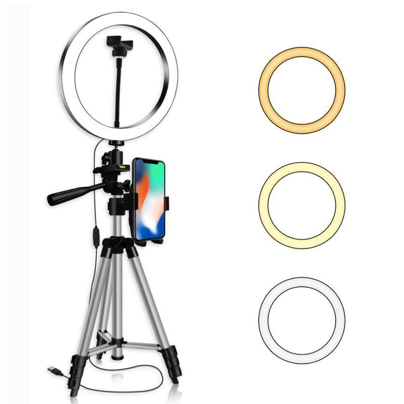 20 26 centímetros Led selfie Ring Light Video Studio Preencha luz Dimmable Fotografia Lighting Com Phone Holder Para Youtube vivo straming