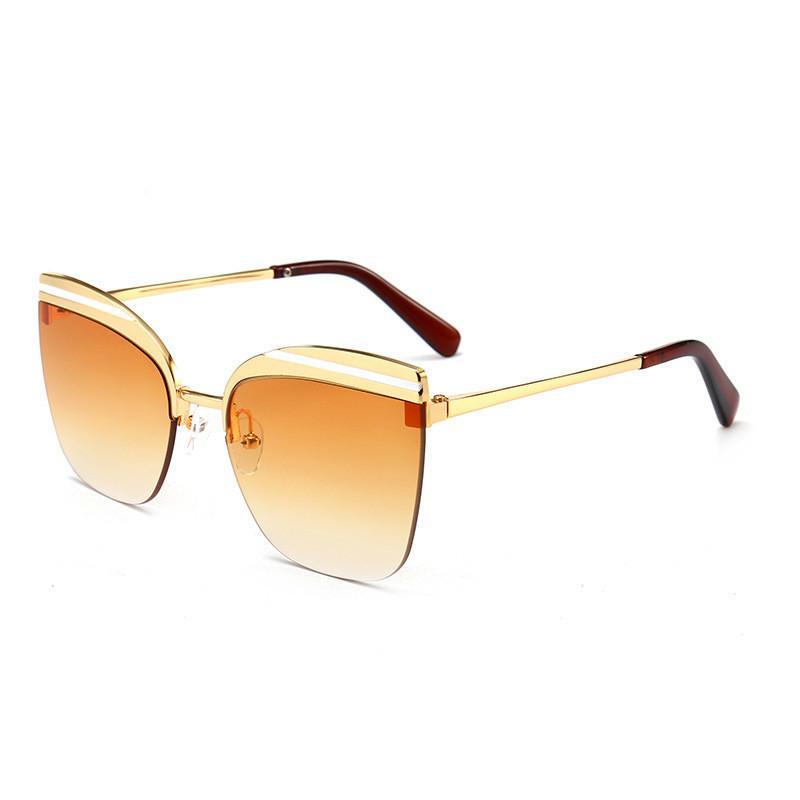 Street Hommes Trends Classic Women's Sun Lunettes Sunglasses Sunglasses sans cadre de soleil Courtwalk Sunglasses Personnalité et tendance Tir de la mode Démkl