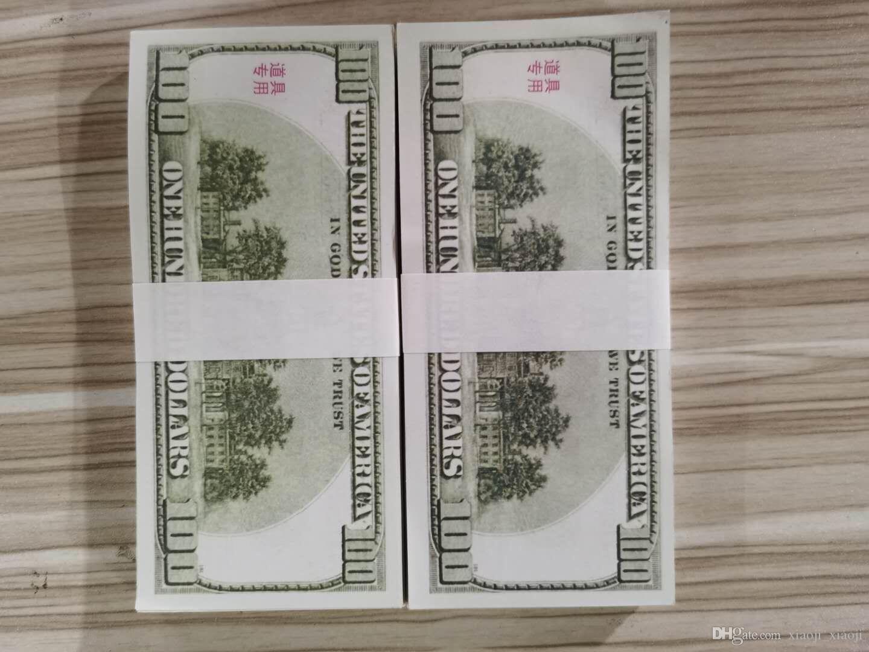 Cadeaux Dollar US Dollar PROP Collection BankNote Money Movie Dollars Hot Party Fake Pop Bar 100 Money Jeux Ventes Vieux 17 Dofjr