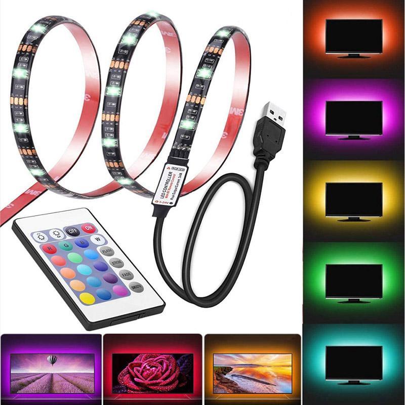 USB-Kabel-LED 5050 Bluetooth-Streifen-Lichtlaterne TV-Hintergrundbeleuchtungs-Kit-Desktop-Hintergrundlampe für TV-Computer-Display-Bildschirm