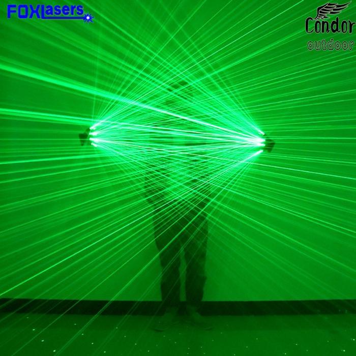 FOXLASERS Green laser gloves Laser glow gloves Stage lighting Laser dance performance props Party dancing Show lights